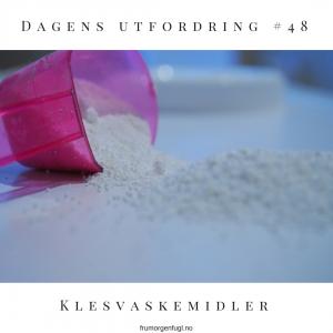 Dagens utfordring #48: Klesvaskemidler