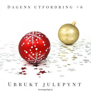 Dagens utfordring #6- Ubrukt julepynt
