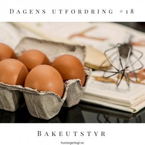 Dagens utfordring #18: Bakeutstyr