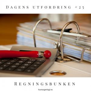 Dagens utfordring #25: Regninger