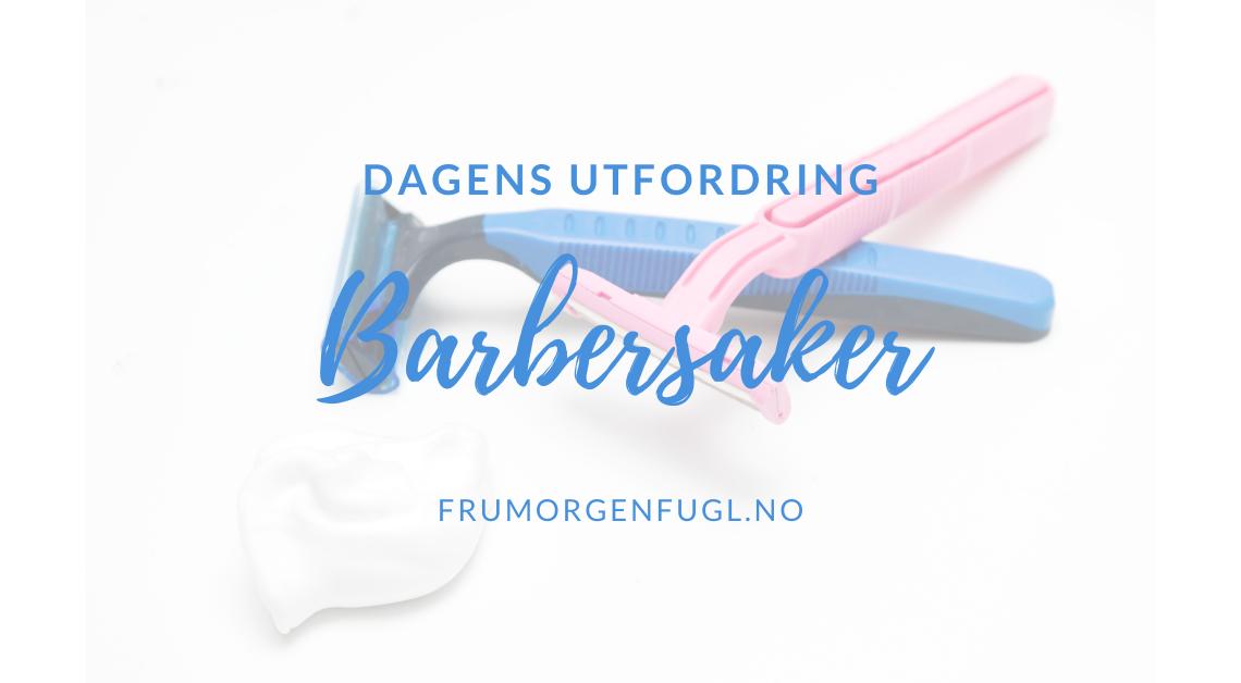 Dagens utfordring Barbersaker