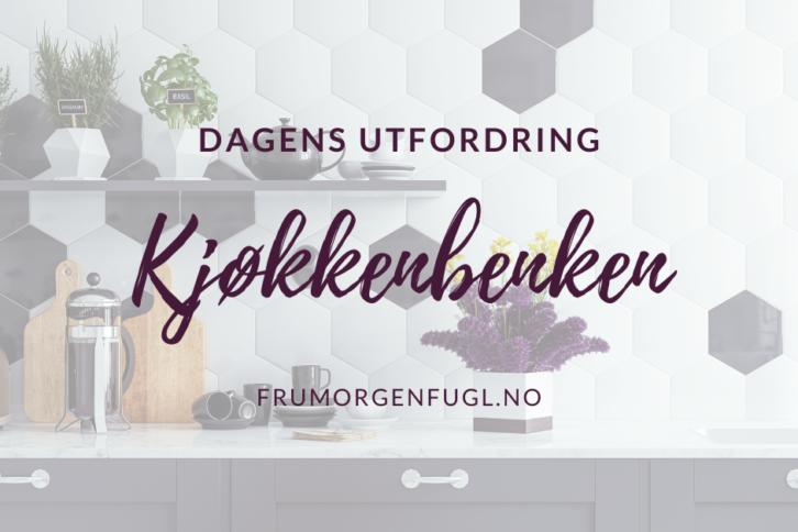 Dagens utfordring Kjøkkenbenken