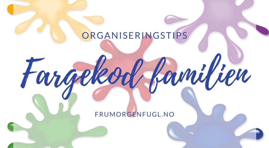 Organiseringstips: Fargekod familien